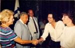 With Teddy Kolek, 1988